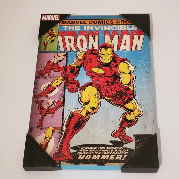 Iron Man Comic Book Plaque Wall Decor